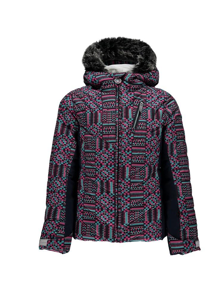 SPYDER Girls Hottie Faux Fur Jacket