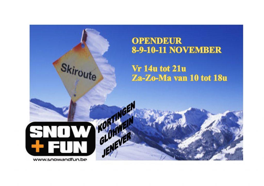 OPENDEUR BIJ SNOW + FUN